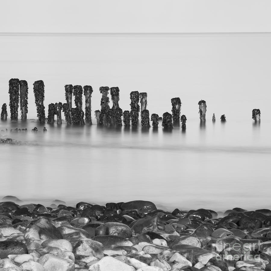 And Photograph - Breakwater Squared by Anne Gilbert
