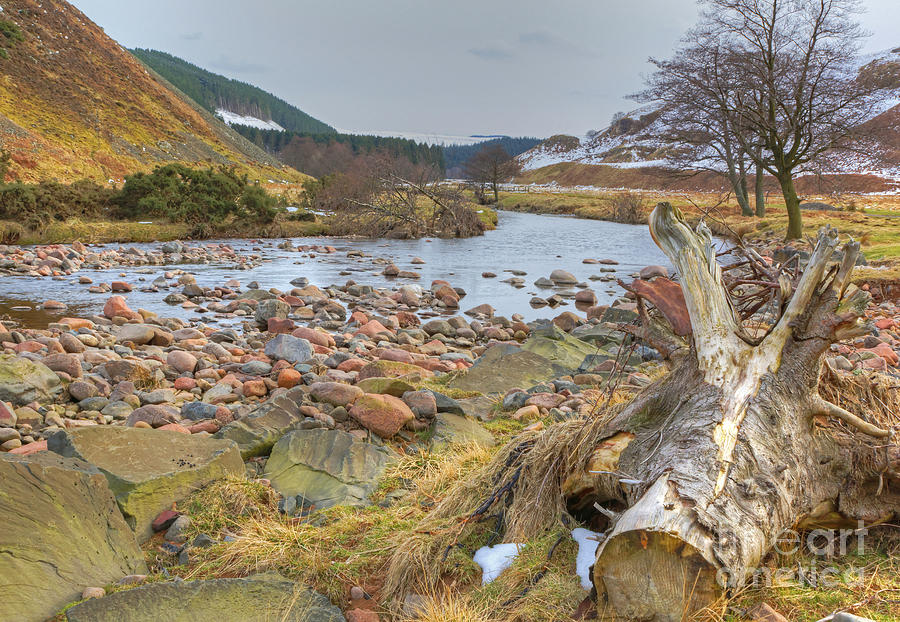 Valley Photograph - Breamish Valley Landscape by David Birchall