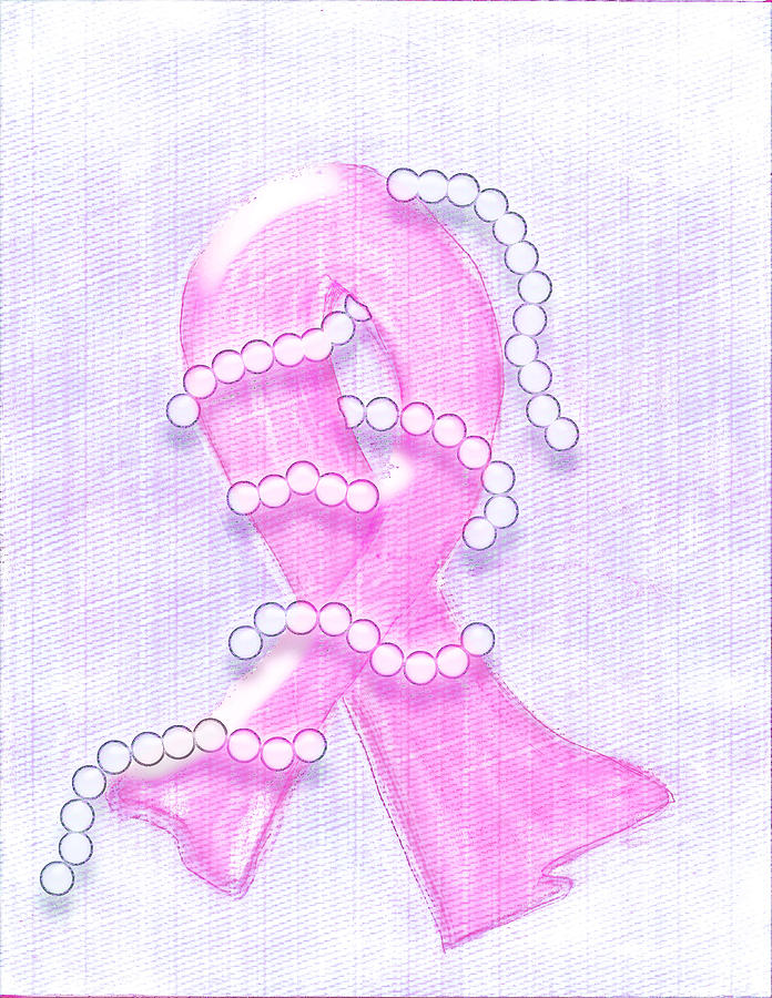 Pink Mixed Media - Breast Cancer Awareness by Melissa Osborne