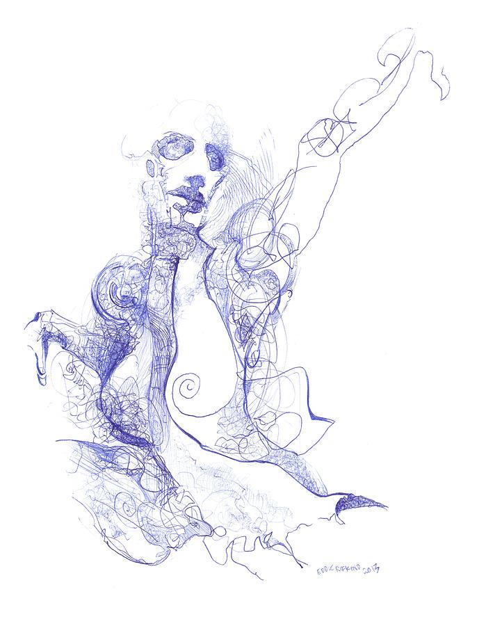 Ballpoint Pen Drawing - Breath by Eddie Rifkind
