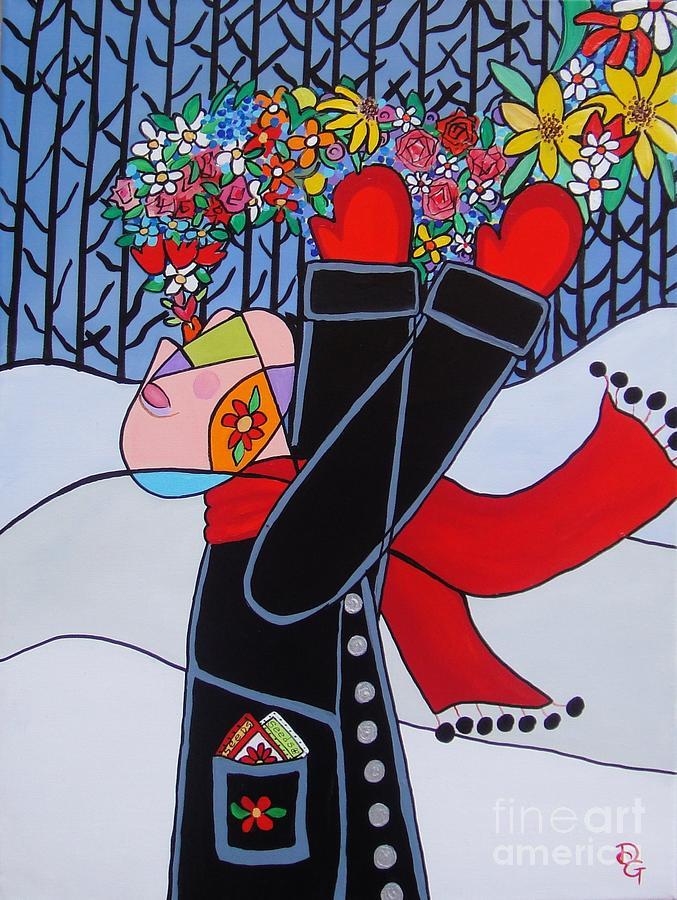 Breath Painting - Breath Of Spring by Deborah Glasgow