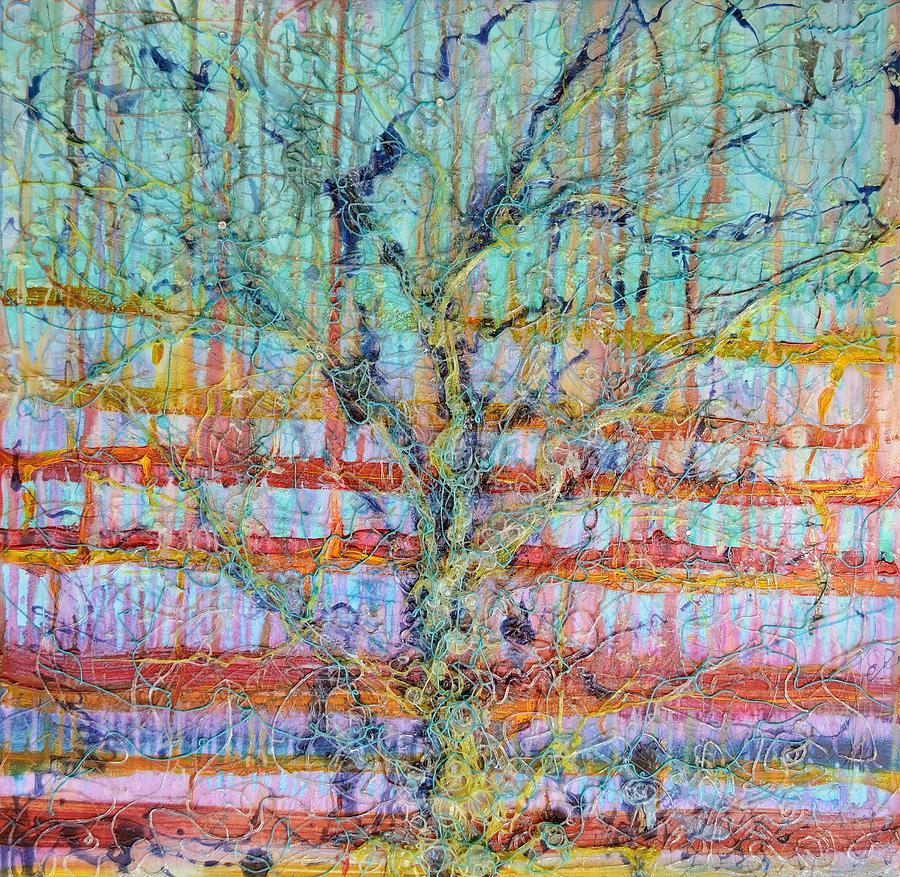 Atmosphere Painting - Breathe - Tree Of Life 4 by Regina Valluzzi