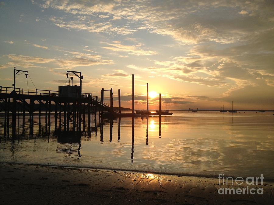 Sunset Photograph - Breathless Reflections On The Beach by Stephanie  Varner