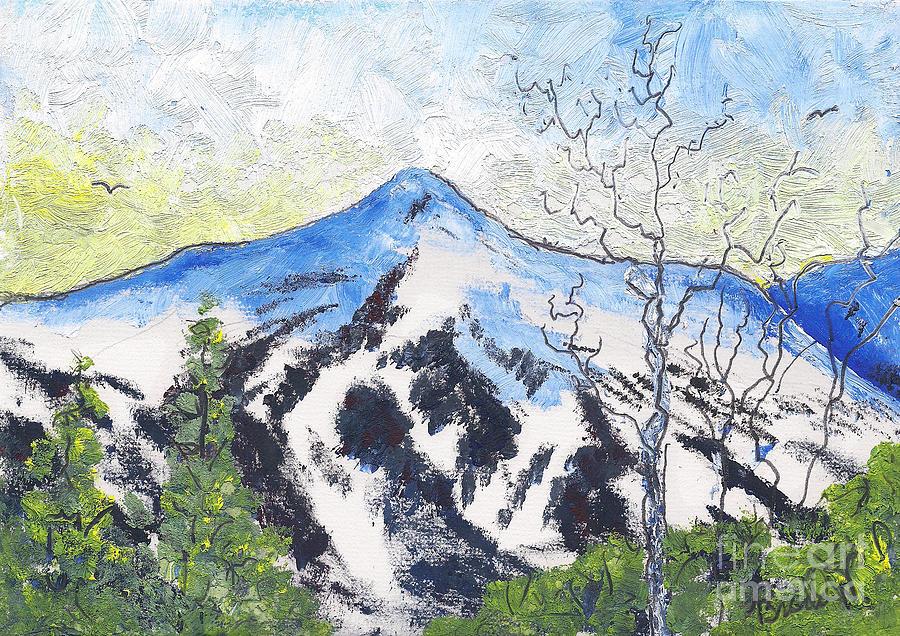 Colorado Painting - Breckenridge At Dusk by Bradd Wickert