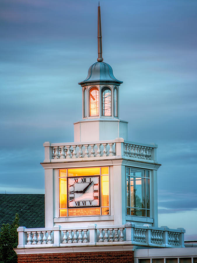 Brecksville Photograph - Brecksville Clock Tower by Jenny Ellen Photography