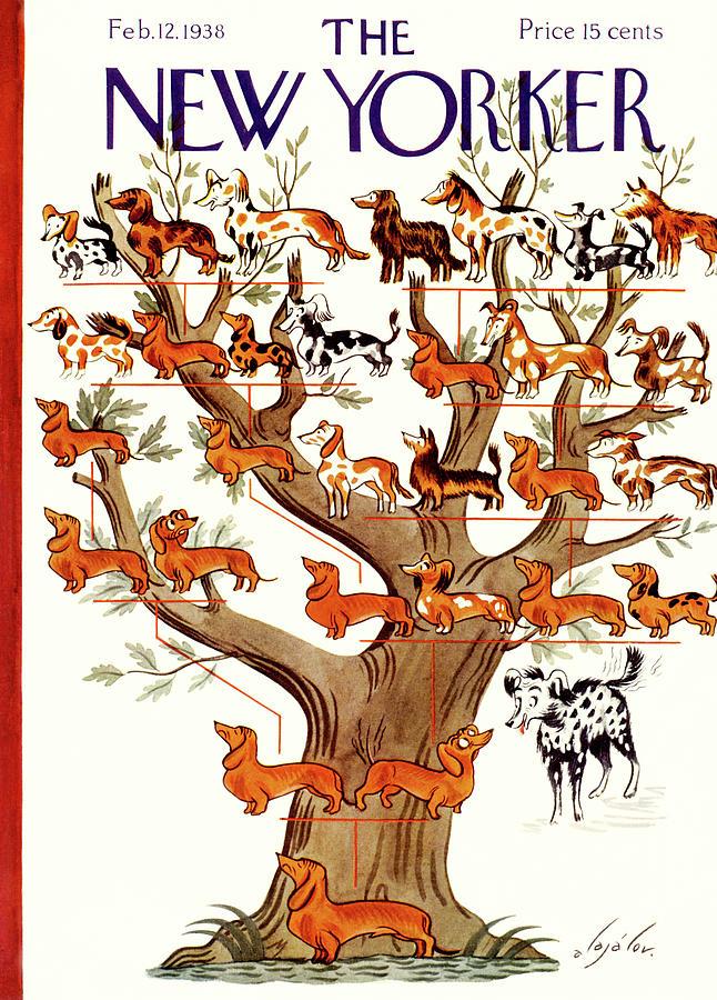 Breeds Tree Painting by Constantin Alajalov