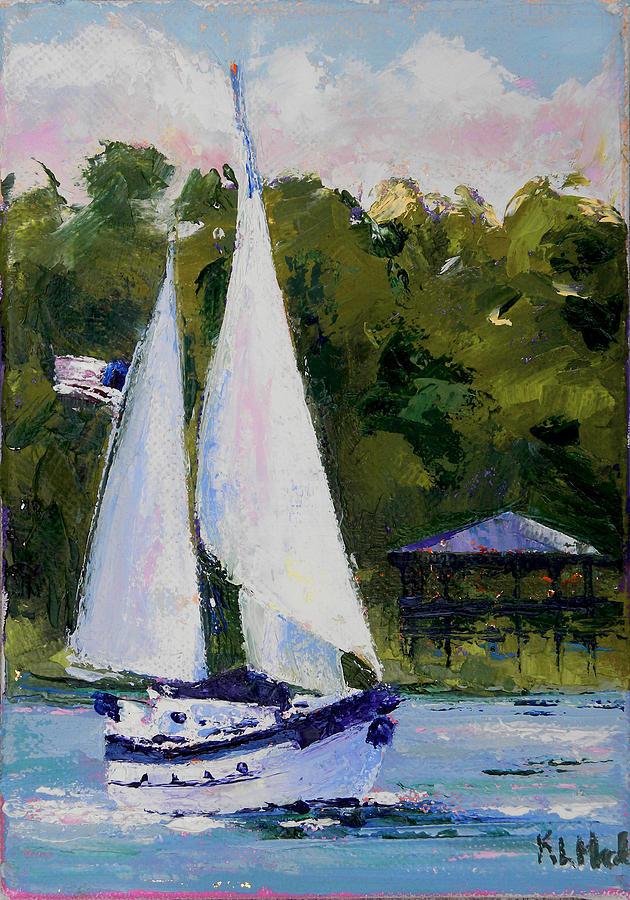 Sailboat Painting - Breezy by Karen Macek