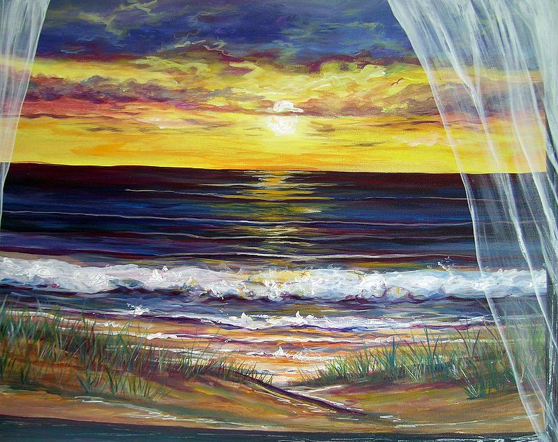 Coastal Painting - Breezy May by Dawn Gray Moraga