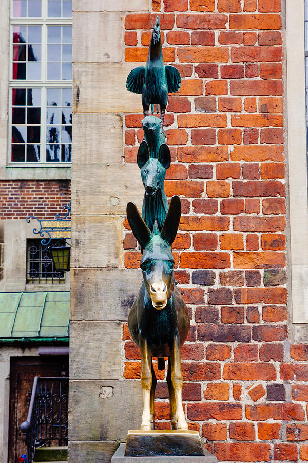 Bremen Photograph - Bremen Musicians Statue by Pati Photography