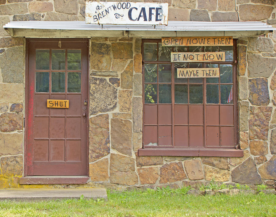 Building Photograph - Brentwood Cafe Open Now And Then by Iris Page