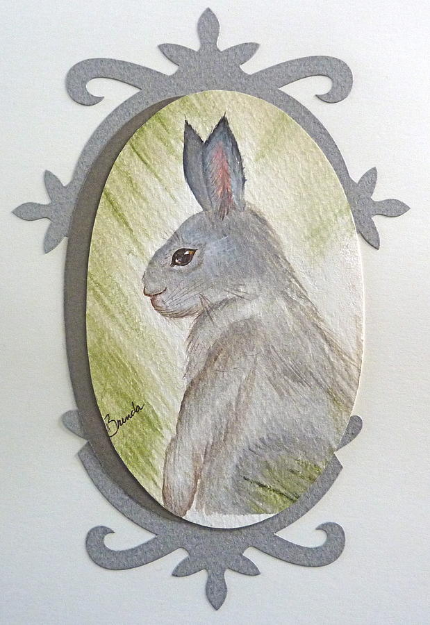 Watercolor Painting - Brer Rabbit by Brenda Ruark