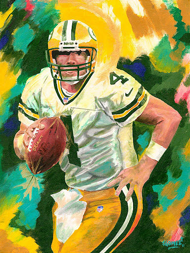 Bret Favre Painting Painting - Bret Favre by Jeff Gomez