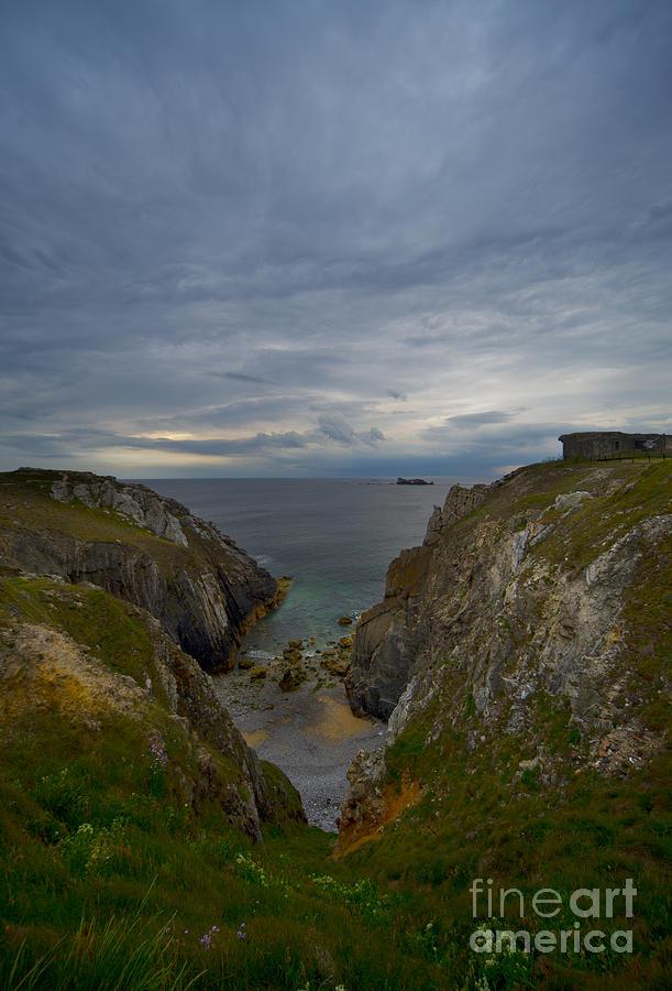 Outdoors Photograph - Bretagne Cliffs by Jaroslaw Blaminsky