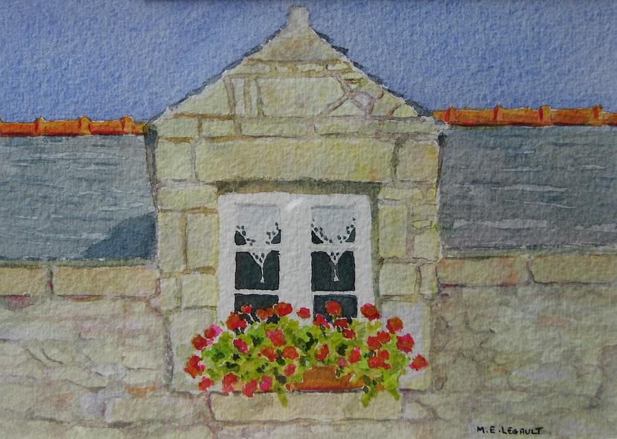 France Painting - Bretagne Window by Mary Ellen Mueller Legault