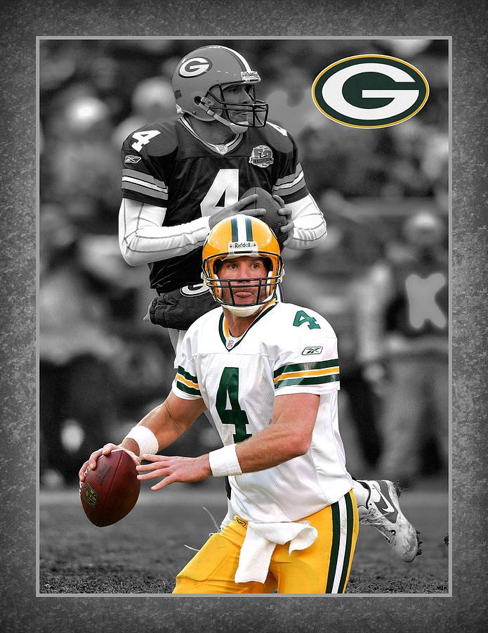 Brett Favre Photograph - Brett Favre Packers by Joe Hamilton