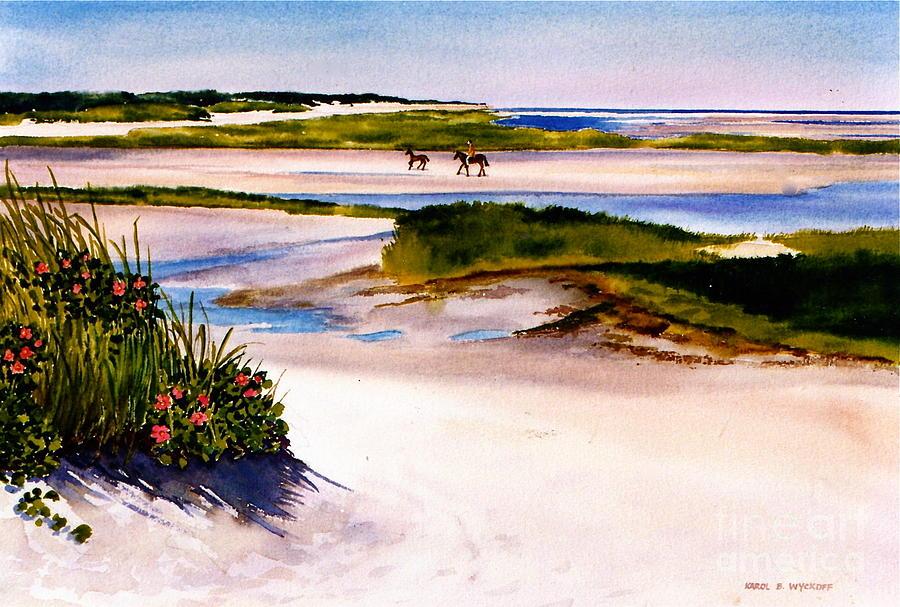 Beach Painting - Brewster Ebb Tide by Karol Wyckoff