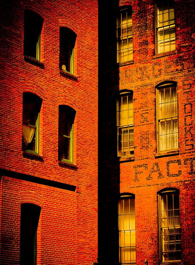 Brick Photograph - Brick And Glass by Matthew Blum