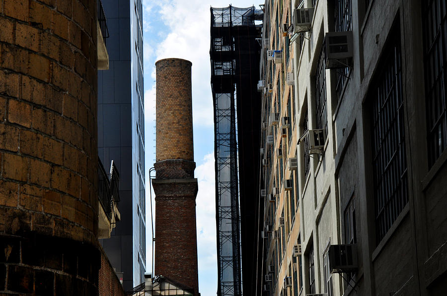 Brick Photograph - Brick Chimneys And Building New York City by Diane Lent