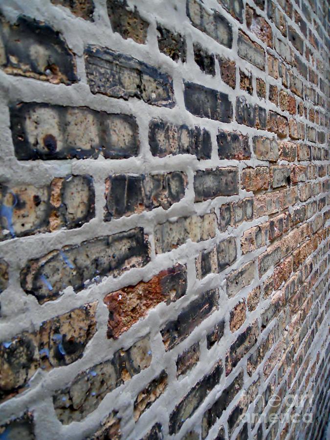 Bricks Photograph - Brick Pattern-2 by Gene Mark