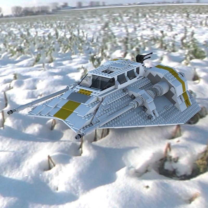 Digital Digital Art - Brick Snowspeeder Ce by John Hoagland