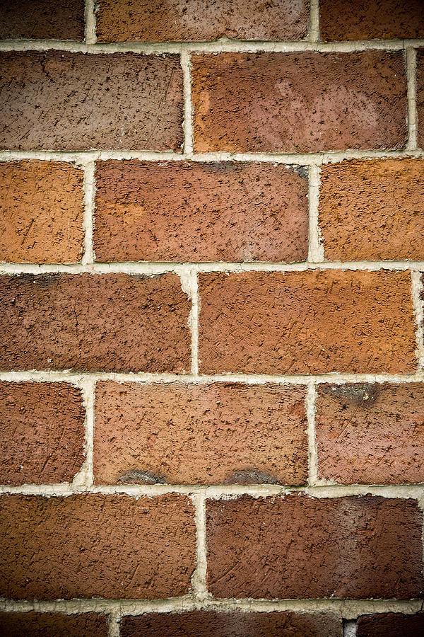 Brick Photograph - Brick Wall by Frank Tschakert
