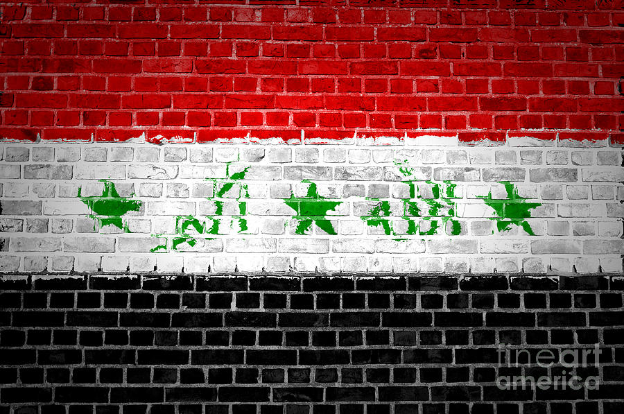 Iraq Digital Art - Brick Wall Iraq by Antony McAulay