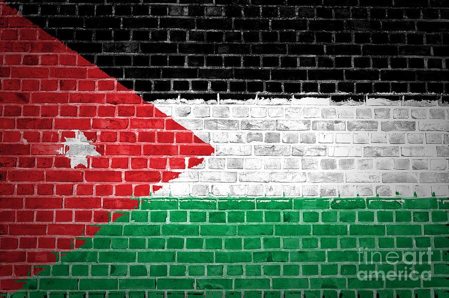 Jordan Digital Art - Brick Wall Jordan by Antony McAulay