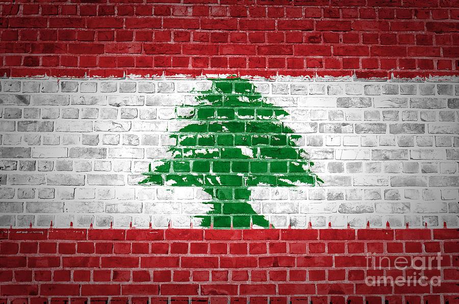Lebanon Digital Art - Brick Wall Lebanon by Antony McAulay