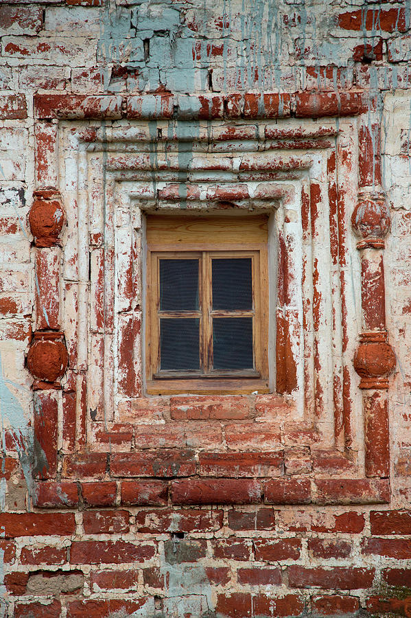 Brick Wall Window At Kirillo-belozersky Photograph by Holger Leue