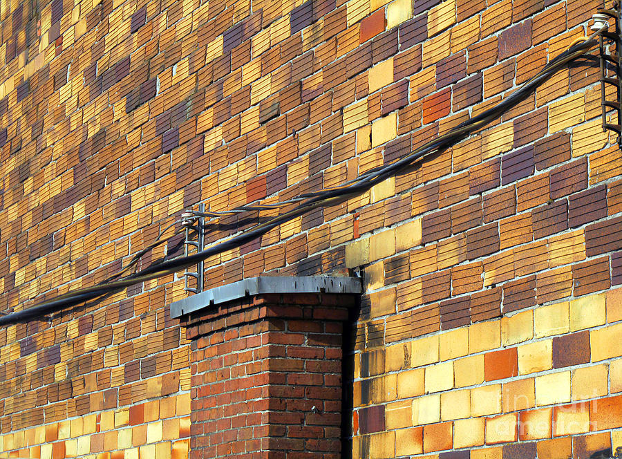 Building Photograph - Bricks And Wires by Ethna Gillespie