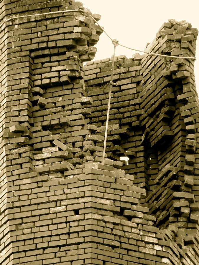Broken Photograph - Bricks by Azthet Photography