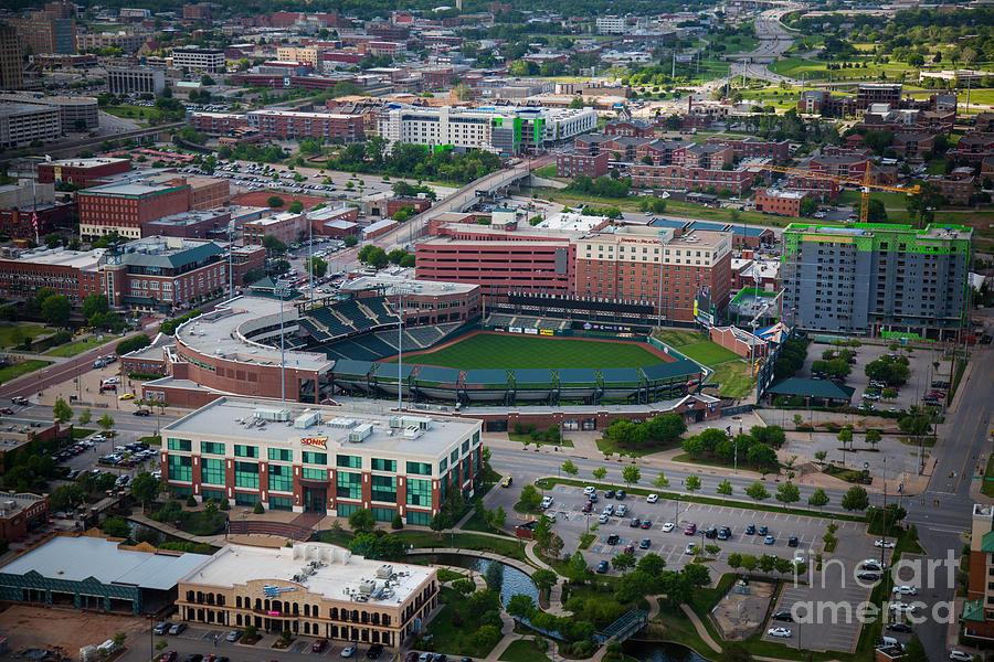 Oklahoma City Photograph - Bricktown Ballpark by Cooper Ross