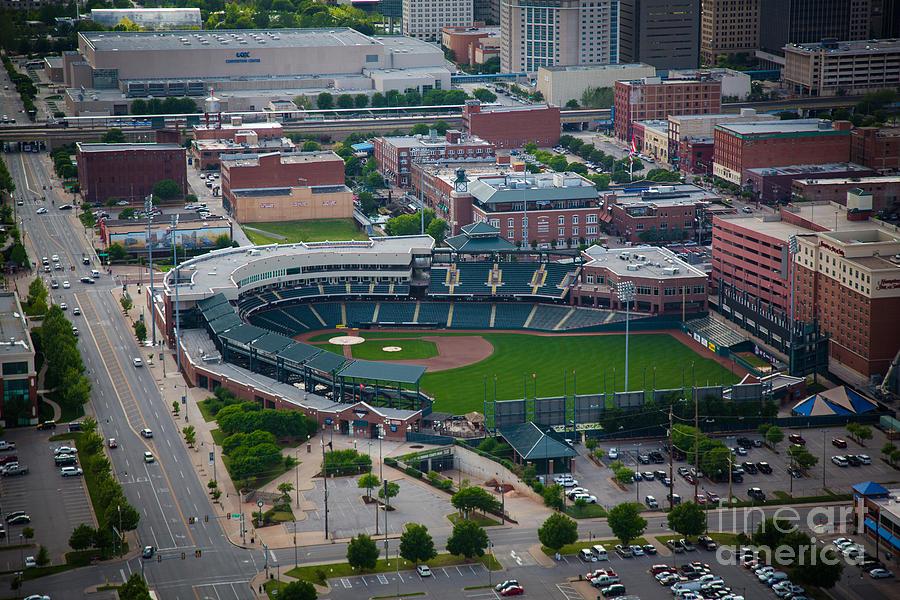 Oklahoma City Photograph - Bricktown Ballpark D by Cooper Ross