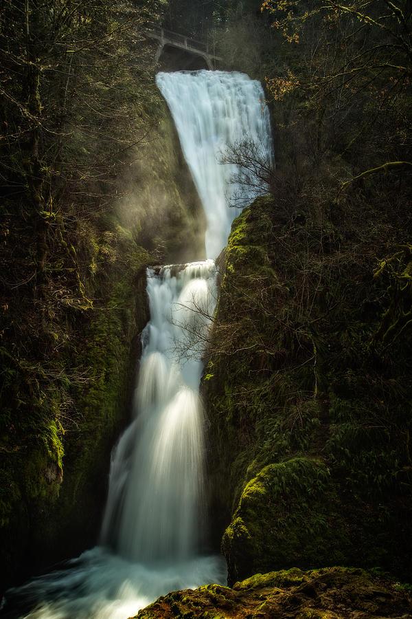 Bridal Photograph - Bridal Veil Falls by Joe Hudspeth