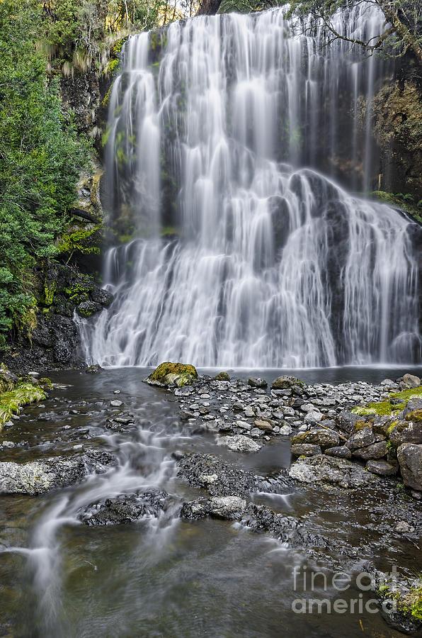 Australia Photograph - Bridal Veil Falls by Paul Woodford