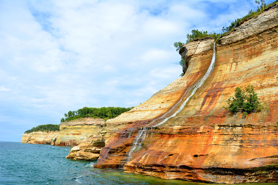 Bridal Veil Falls Pictured Rocks Michigan Photograph