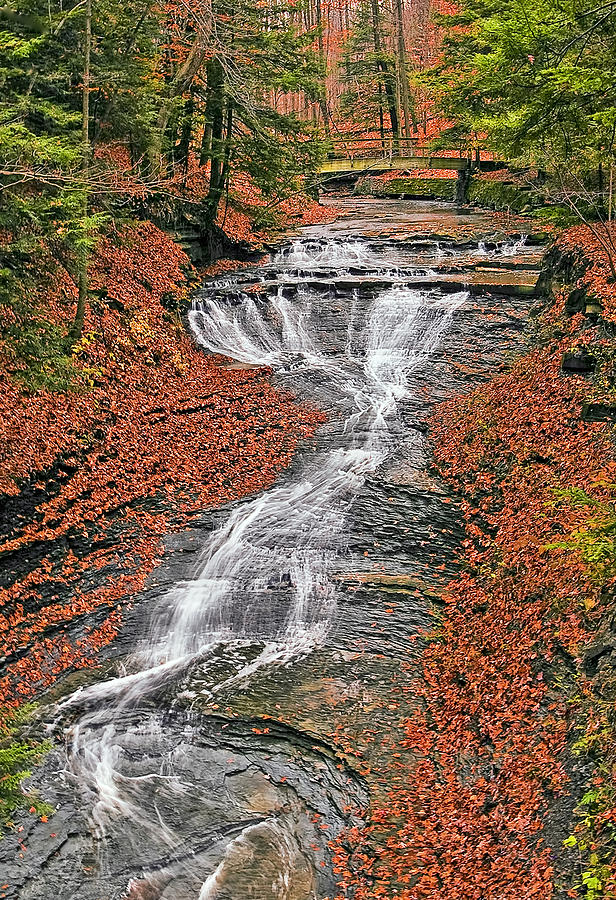 Cleveland Photograph - Bridal Veil Waterfall by Marcia Colelli