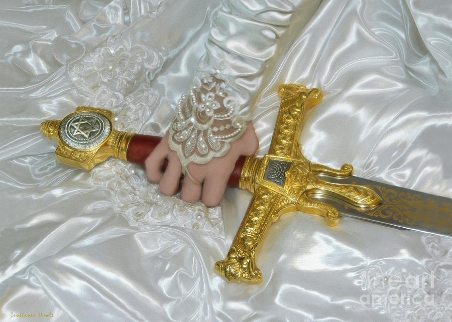 Warrior Bride Painting - Bride Of Christ Sword by Constance Woods