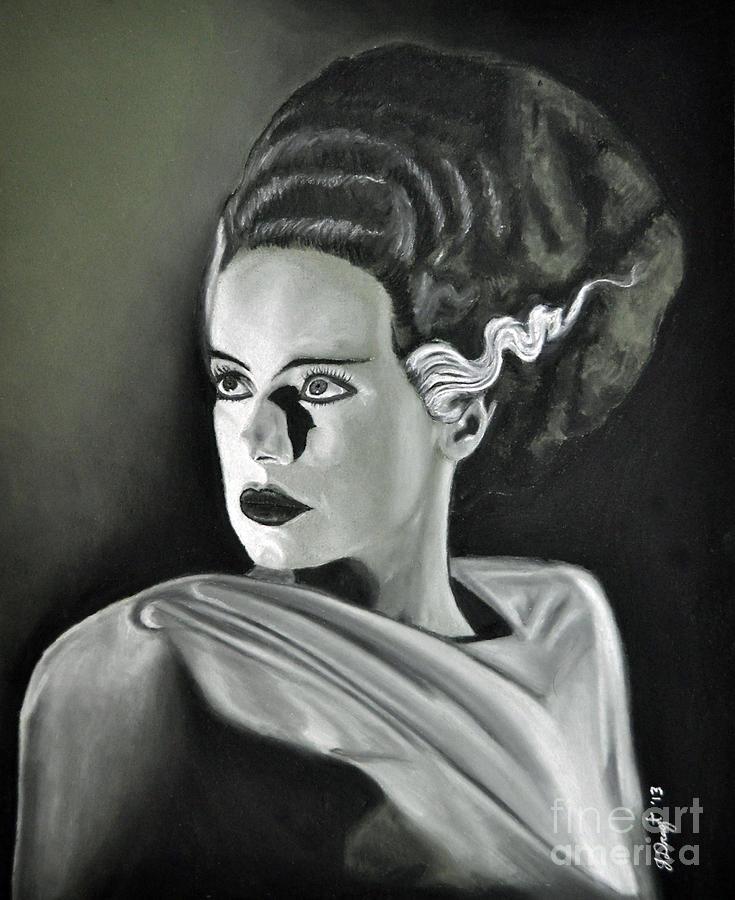 Bride Drawing - Bride Of Frankenstein by Joe Dragt