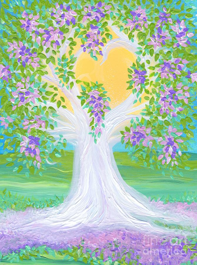 First Star Art By Jrr Painting - Brides Tree Purple by First Star Art
