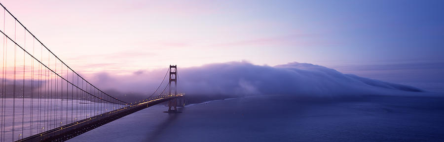 Color Image Photograph - Bridge Across The Sea, Golden Gate by Panoramic Images