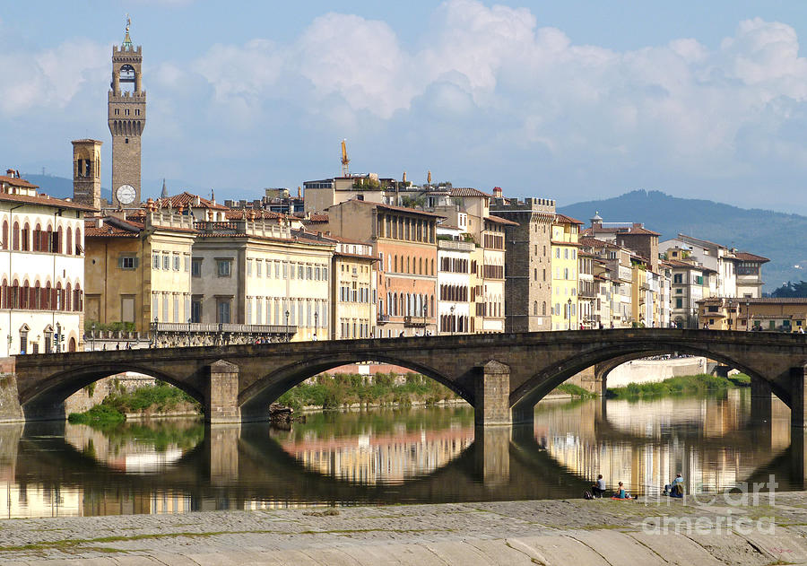 Florence - Ponte Alla Carraia by Phil Banks