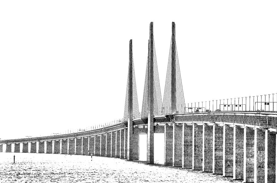 Denmark Photograph - Bridge Connecting The Countries by Kim Lessel