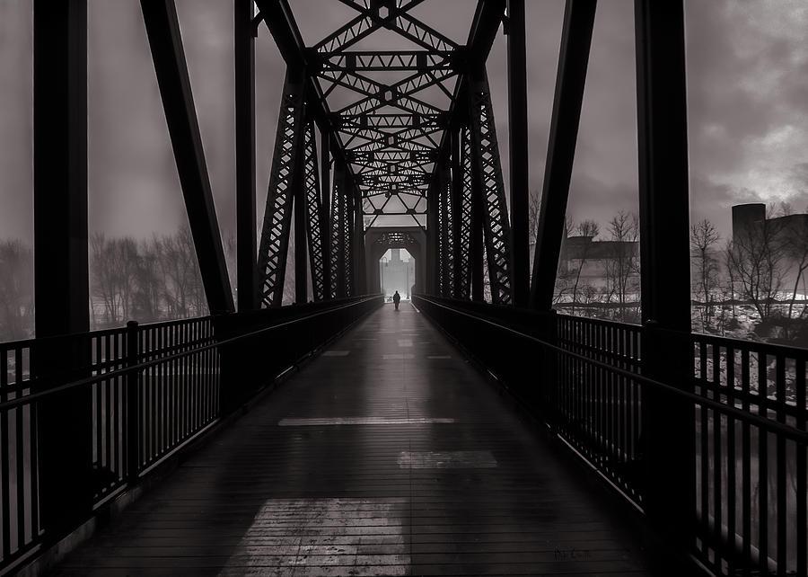 Fog Photograph - Bridge Crossing by Bob Orsillo