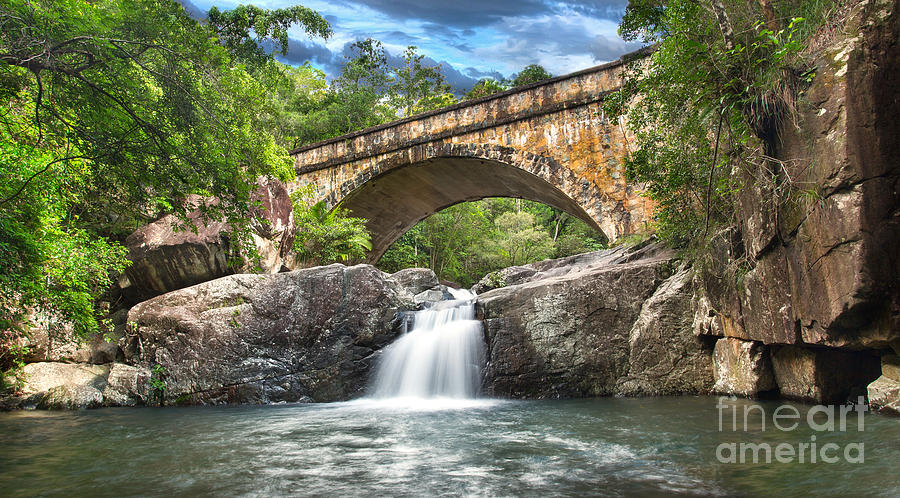 Townsville Photograph - Bridge Falls by Shannon Rogers