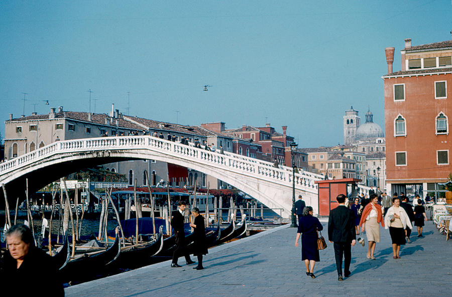 Bridge Photograph - Ponte degli Scalzi Venice 1961 by Cumberland Warden