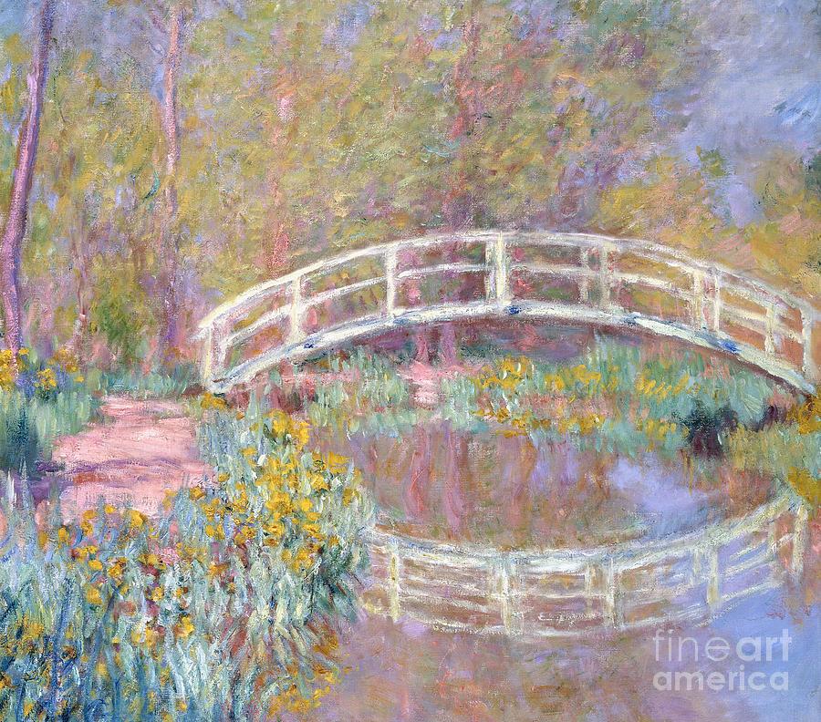 Monet Painting - Bridge in Monets Garden by Claude Monet