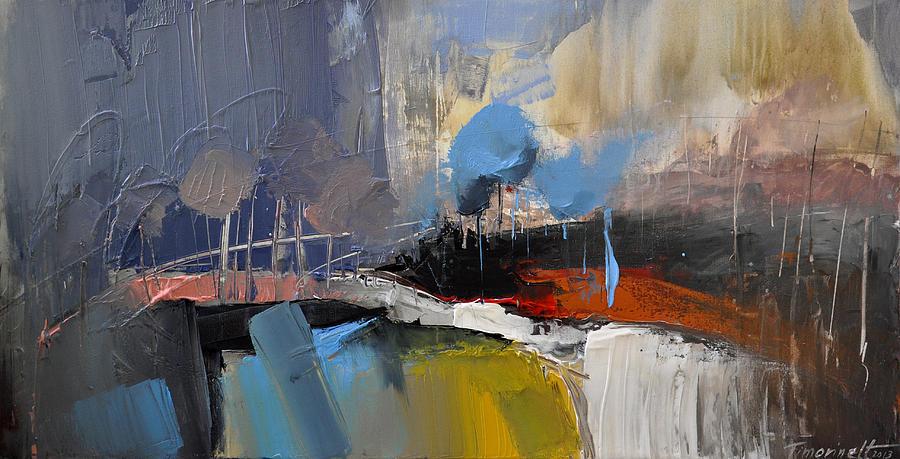Landscape Painting - Bridge In The Park by David Figielek