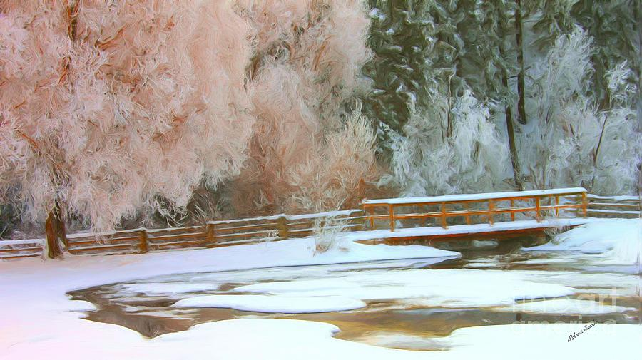 Bridge Photograph - Bridge in winter by Roland Stanke