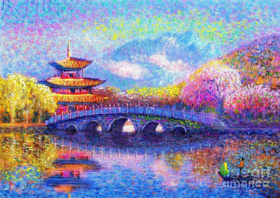 Bridge Painting - Bridge Of Dreams by Jane Small